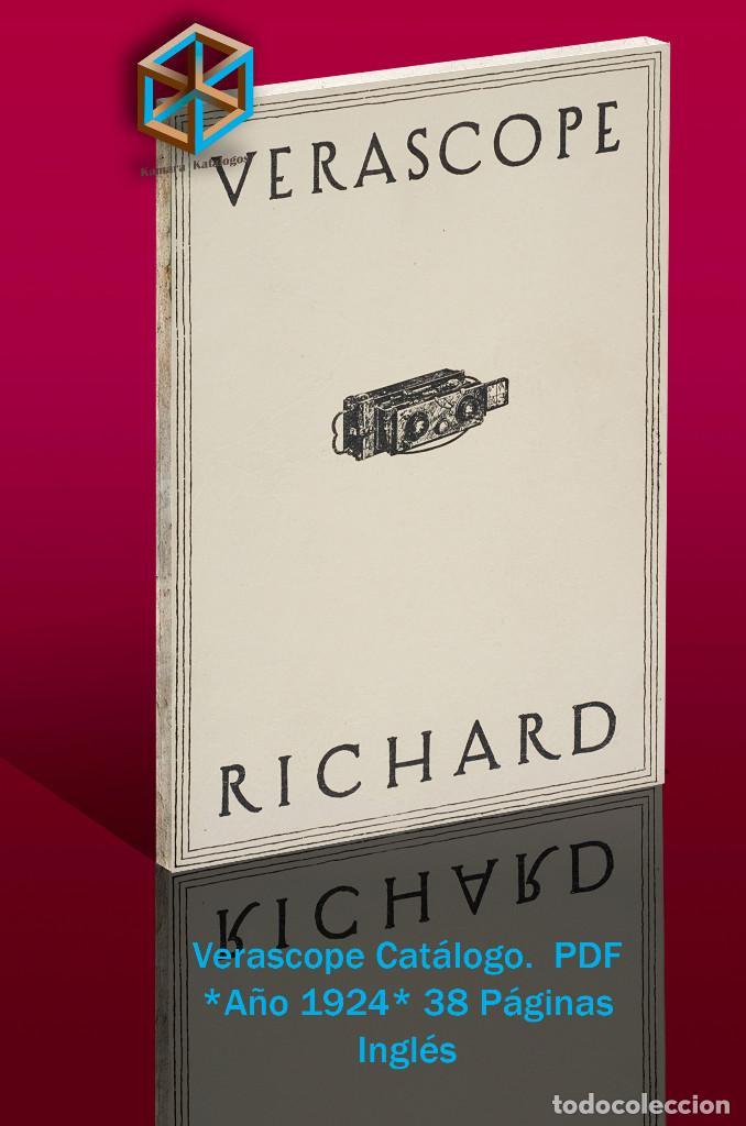 Cámara de fotos: Jules Richard 7 Catálogos PDF. Verascope, Taxiphote, Glyphoscope, etc. DVD - Foto 4 - 142824814