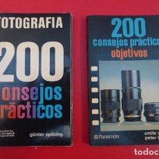 Cámara de fotos: 200 CONSEJOS PRACTICOS EN FOTOGRAFIA..Y 200 CONSEJOS PRACTICOS EN OBJETIVOS..AÑOS 80... Lote 143072182