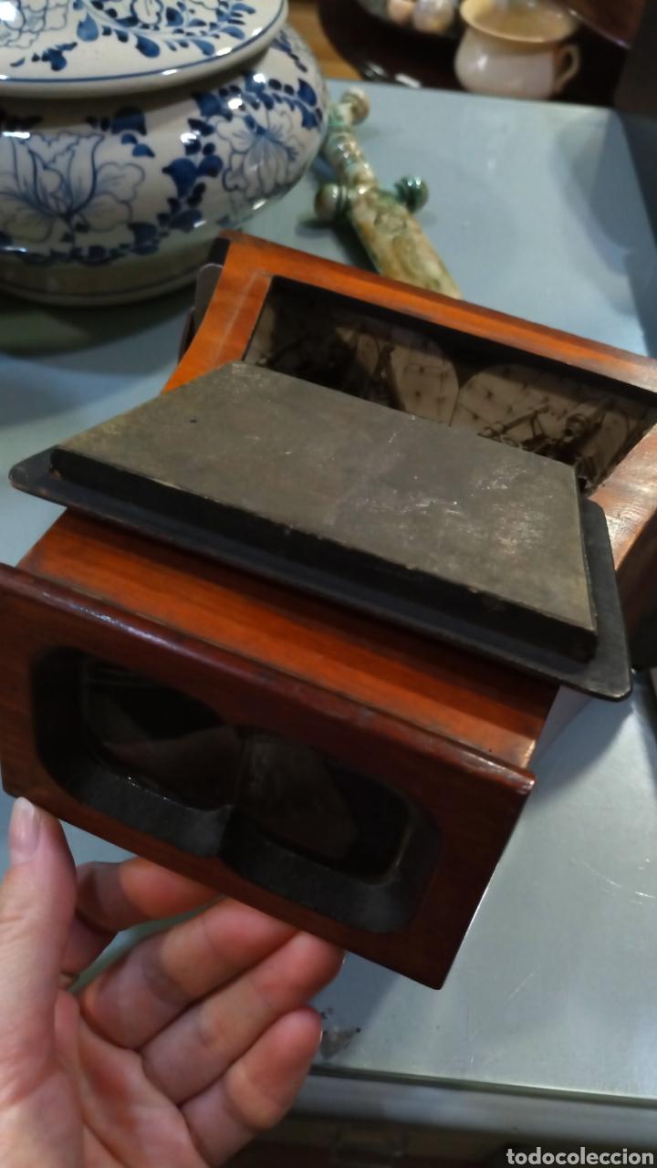 Cámara de fotos: Estereoscopio madera con seis imágenes - Foto 2 - 144239708