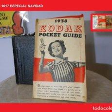Cámara de fotos: MANUAL PUBLICITARIO KODAK POCKET GUIDE 1938 COMPLETO CON TODAS SUS PAGINAS, DIBUJOS, ETC,, RAREZA. Lote 144293558