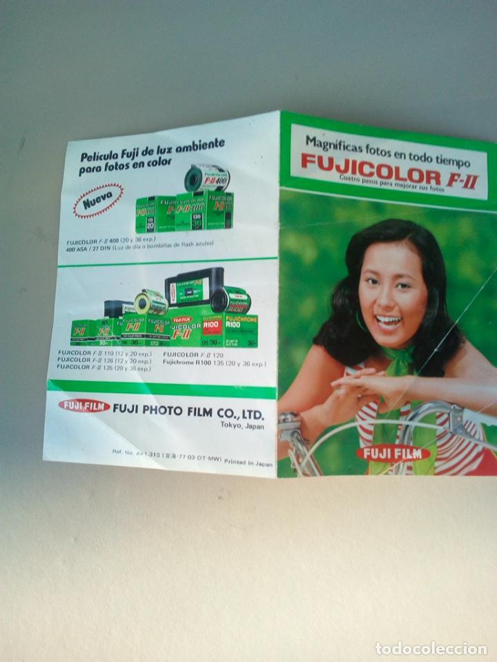 FOLLETO PUBLICIDAD FUJICOLOR FUJI FILM (Cámaras Fotográficas - Catálogos, Manuales y Publicidad)