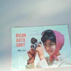 Cámara de fotos: CATALOGO ORIGINAL RICOH AUTO SHOT. Lote 144587446