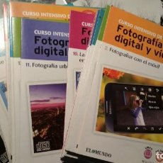 Cámara de fotos: CURSO INTENSIVO DE FOTOGRAFIA DIGITAL Y VIDEO 20 CD ROM FALTA EL NÚMERO 1. Lote 145273310
