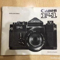 Cámara de fotos: MANUAL INSTRUCCIONES CANON F 1. Lote 145464646