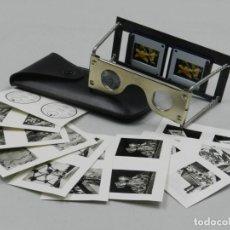 Cámara de fotos: CARL ZEISS ANTIGUO VISOR ESTEREOSCOPICO PLEGABLE PIEZA DE COLECCIÓN . Lote 146316094