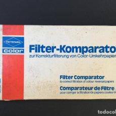 Cámara de fotos: FILTRO COMPARADOR PARA CORREGIR LA FILTRACIÓN DE LOS PAPELES DE COLOR. TETENAL COLOR. Lote 146988546