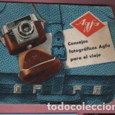 Cámara de fotos: CATÁLOGO CONSEJOS FOTOGRAFICOS AGFA - TIENDA DE BARCELONA EVARISTO PICAZO . Lote 147472546
