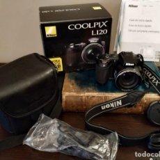 Cámara de fotos: NIKON COOLPIX L120 - BRIDGE DIGITAL. Lote 147723178