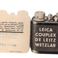 Cámara de fotos: CATALOGO PUBLICITARIO LEICA COUPLEX DE LEITZ WETZLAR. EN FRANCES. Lote 147858782