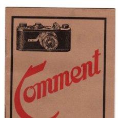 Cámara de fotos: CATALOGO LEICA. COMMENT ON OBTIENT LES MEILLEURS RÉSULTATS AVEC LE LEICA. AÑO 1929. EN FRANCES. Lote 147863573