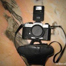 Cámara de fotos: CAMARA YAHICA TL-ELECTRO Y FLAS YASHICA CS-14. Lote 147881442