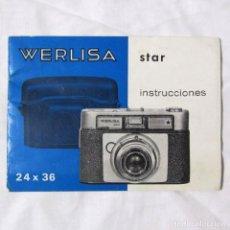 Cámara de fotos: INSTRUCCIONES PARA EL MANEJO DE LA CÁMARA FOTOGRÁFICA WERLISA STAR. Lote 148286114
