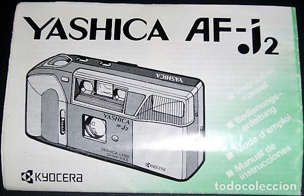 MANUAL DE YASHICA AF-J2 (Cámaras Fotográficas - Catálogos, Manuales y Publicidad)