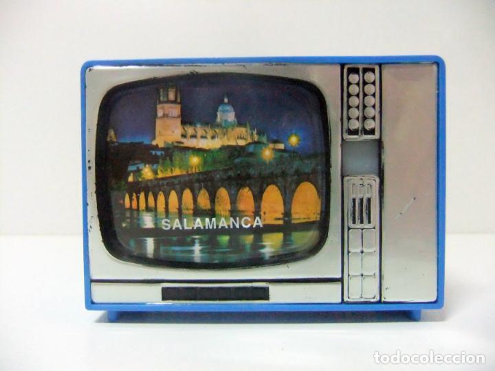 VISOR TELEVISOR SOUVENIR SALAMANCA - TELEVISIÓN TV TURISMO FOTOS DIAPOSITIVAS ESPAÑA CASTILLA LEÓN (Cámaras Fotográficas - Visores Estereoscópicos)