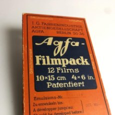 Cámara de fotos: AGFA FILMPACK CASETE PELÍCULA FOTOGRAFICA 10X15CM AÑOS 20-30. Lote 149926994