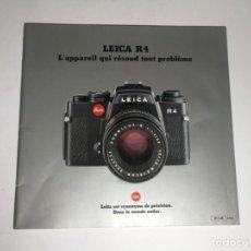 Cámara de fotos: CATÁLOGO LEICA R4. Lote 150337002