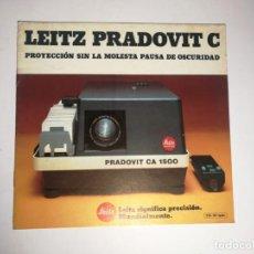 Cámara de fotos: CATÁLOGO LEICA LEITZ PRADOVIT C PROYECTOR. Lote 150337834