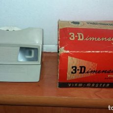 Cámara de fotos: ANTIGUO VIEW MASTER 3 DIMENSION VIEWER MODEL E CON CAJA FALTANDOLE UNA SOLAPA A LA CAJA. Lote 150613874