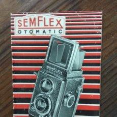 Cámara de fotos: INSTRUCCIONES SEMFLEX OTOMATIC. 15 X 10 CMS. Lote 150622428