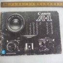 Cámara de fotos: CANON A-1 INSTRUCTIONS. MANUAL DE INSTRUCCIONES DE CAMARA FOTOGRAFÍCA. Lote 150842190