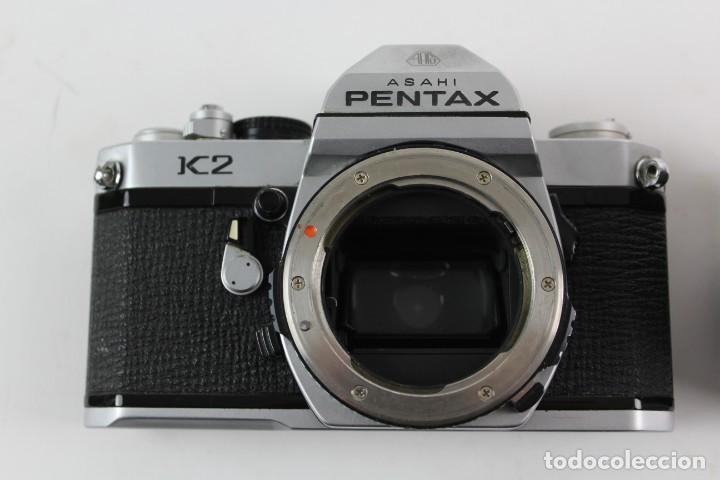 Cámara de fotos: CAMARA PENTAX ASAHI K2, CON OBJETIVO MACRO 1:4/100. 1975. - Foto 6 - 150966046