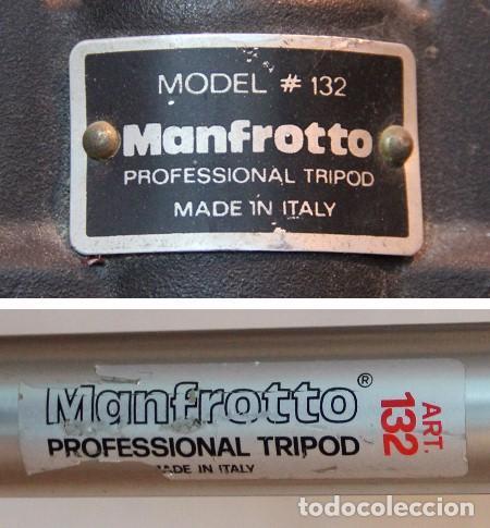 Cámara de fotos: Trípode Profesional MANFROTTO Model 132 - Foto 2 - 134356366
