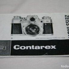 Cámara de fotos: CONTAREX ZEISS IKON INSTRUCCIONES EN ESPAÑOL. Lote 152011834