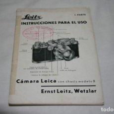 Cámara de fotos - Leica antigua Instrucciones en español - 152012746
