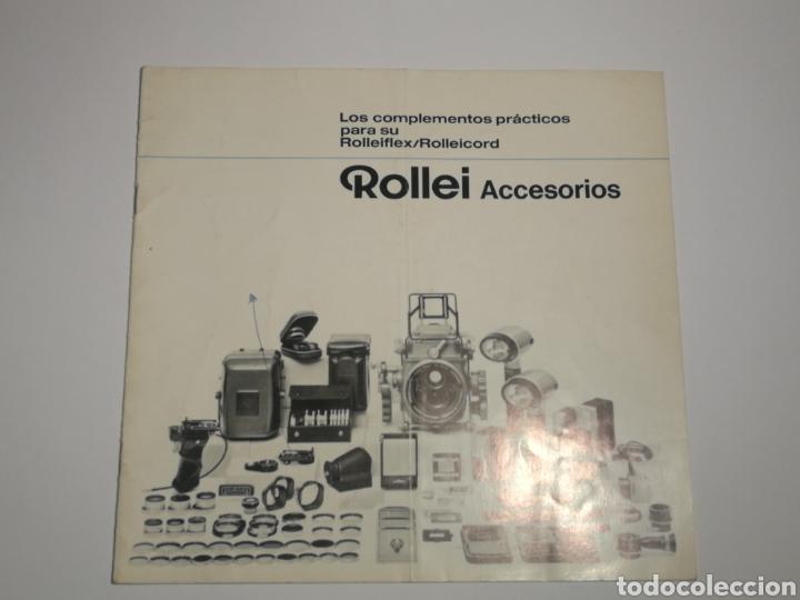 CATÁLOGO ACCESORIOS ROLLEIFLEX ROLLEI (Cámaras Fotográficas - Catálogos, Manuales y Publicidad)
