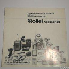 Cámara de fotos: CATÁLOGO ACCESORIOS ROLLEIFLEX ROLLEI. Lote 152658456