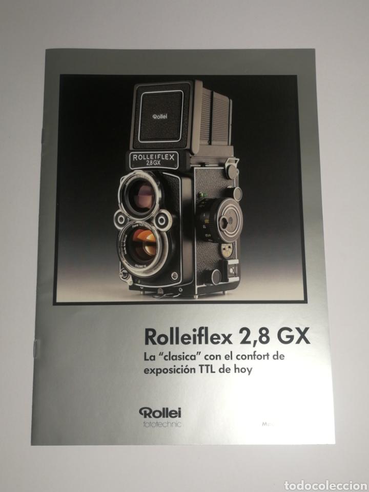 CATALOGO FOLLETO ROLLEI ROLLEIFLEX 2,8 GX (Cámaras Fotográficas - Catálogos, Manuales y Publicidad)