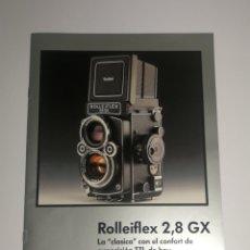 Cámara de fotos: CATALOGO FOLLETO ROLLEI ROLLEIFLEX 2,8 GX. Lote 152659417