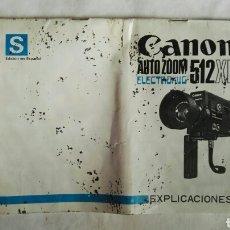 Cámara de fotos: CANON AUTO ZOOM 512 XL MANUAL INSTRUCCIONES EXPLICACIONES. Lote 152836798