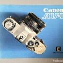 Cámara de fotos: MANUAL CANON AV-1. Lote 152842442