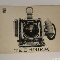 Cámara de fotos: CATÁLOGO LINHOF TECHNIKA DESPLEGABLE AÑOS 60. Lote 153519130