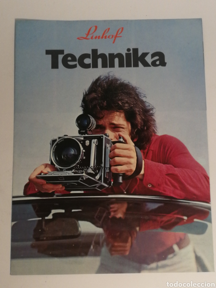 CATÁLOGO DESPLEGABLE LINHOF TECHNIKA (Cámaras Fotográficas - Catálogos, Manuales y Publicidad)