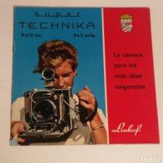 Cámara de fotos: CATÁLOGO LINHOF SUPER TECHNIKA 9X12. Lote 153519761