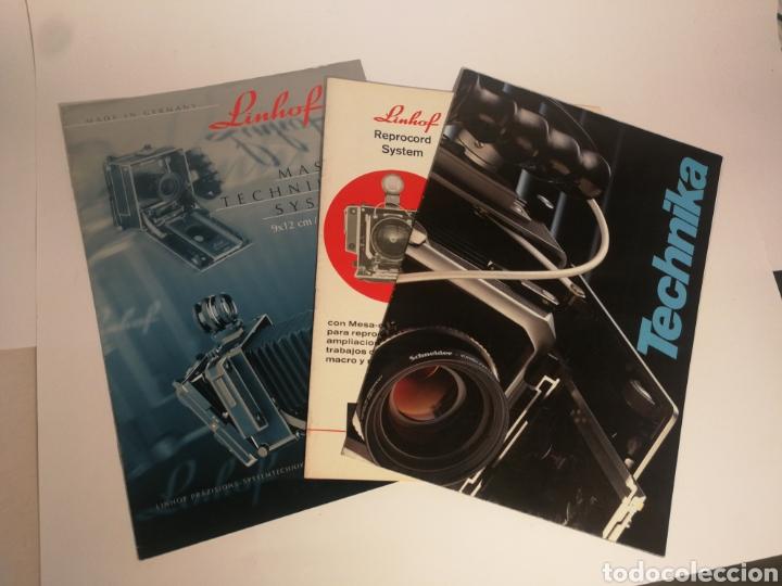 LOTE 3 CATÁLOGOS LINHOF TECHNIKA (Cámaras Fotográficas - Catálogos, Manuales y Publicidad)