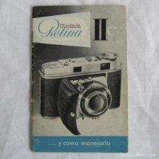 Cámara de fotos: INSTRUCCIONES DE LA CÁMARA KODAK RETINA IIC. Lote 153688926