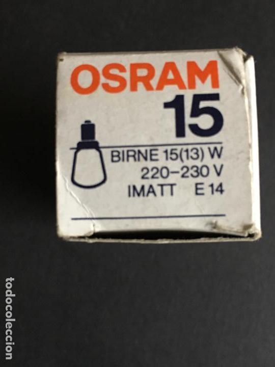 Cámara de fotos: LAMPARA DE LA MARCA OSRAM 15 BIRNE 15 (13) W, 220-230 V, IMATT E14, MADE IN GERMANY - Foto 3 - 153797338