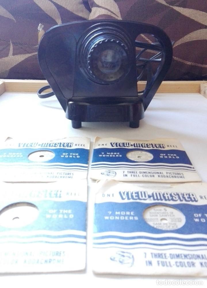 Cámara de fotos: ANTIGUO PROYECTOR DE DIAPOSITIVAS VIEW MASTER JUNIOR Y DIAPOSITIVAS.MADE IN EE.UU.PRINCIPIO AÑOS 50 - Foto 2 - 154704718