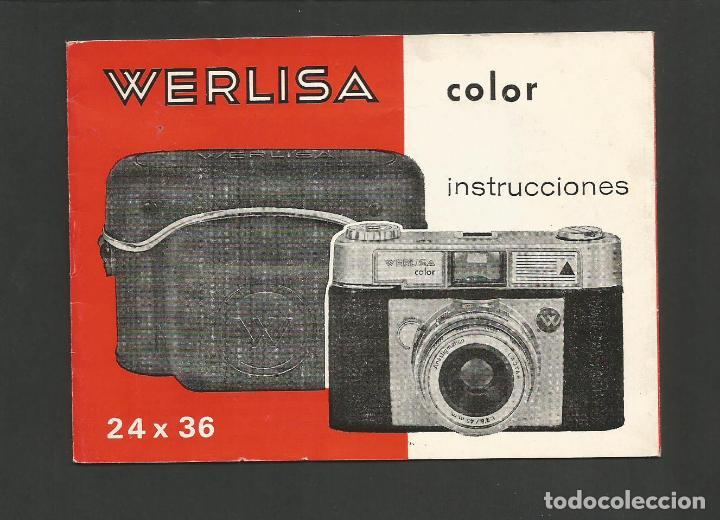 WERLISA COLOR-INSTRUCCIONES CAMARA FOTOGRAFICA-VER FOTOS-(57.751) (Cámaras Fotográficas - Catálogos, Manuales y Publicidad)