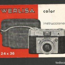 Cámara de fotos: WERLISA COLOR-INSTRUCCIONES CAMARA FOTOGRAFICA-VER FOTOS-(57.751). Lote 155307718