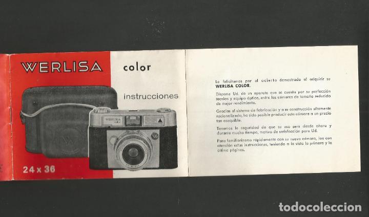 Cámara de fotos: WERLISA COLOR-INSTRUCCIONES CAMARA FOTOGRAFICA-VER FOTOS-(57.751) - Foto 2 - 155307718