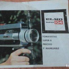 Cámara de fotos: MANUAL INSTRUCCIONES.TOMAVISTAS ELMO SUPER 104. SUPER-8 . Lote 155495326