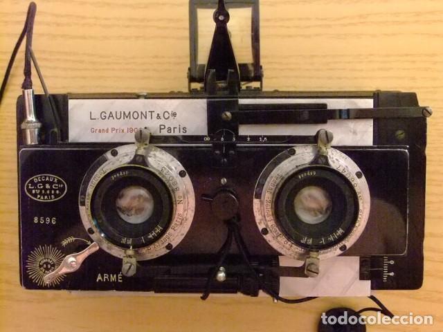 MAQUINA DE FOTOS ESTEREOSCOPICA - LEON GAUMONT & CIA PARIS (Cámaras Fotográficas - Visores Estereoscópicos)