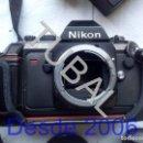Cámara de fotos: TUBAL NIKON F-301 CAMARA Y COMPLEMENTOS FUNCIONANDO `+ MALETIN + TODO LO QUE VES EN LAS FOTOS . Lote 157083462