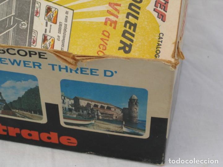 Cámara de fotos: Visor estereoscopio Lestrade. Años 70 con 2 planchas de diapositivas. - Foto 13 - 157858210