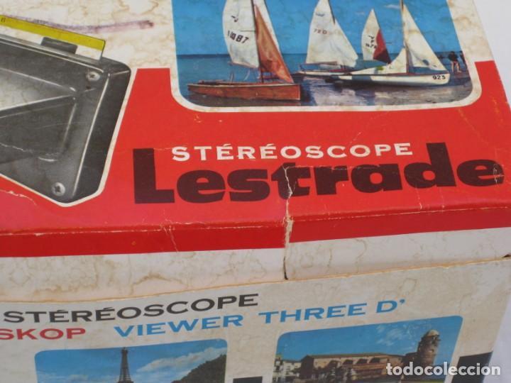 Cámara de fotos: Visor estereoscopio Lestrade, Simplex. Francia. con 5 planchas. Algún defecto. - Foto 14 - 157859194