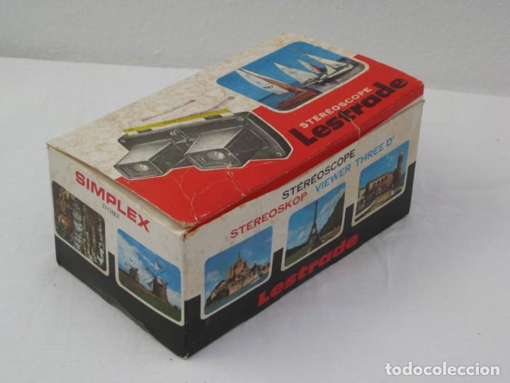 Cámara de fotos: Visor estereoscopio Lestrade, Simplex. Francia. con 5 planchas. Algún defecto. - Foto 15 - 157859194